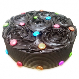 1kg Chocolate Flower Cake