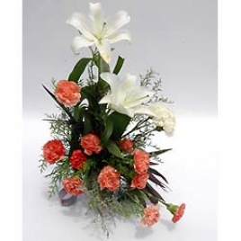 Exotic Liles  Carnations Arranged Nicely