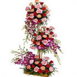 3-4 Ft Arrangement O Exotic Flowers