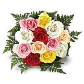 12 Mix Roses Posy
